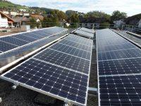 Photovoltaikanlage fertig gebaut
